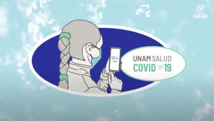 App monitoreo COVID-19 e la UNAM