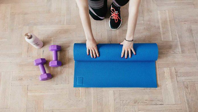 Tapete para hacer pilates