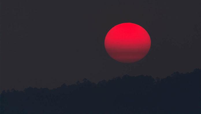 Eclipse total de luna de sangre