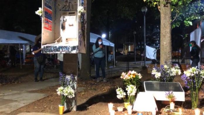 Altar en memoria de Lesvy Ortiz