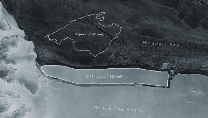 Un iceberg gigante se desprende de la Antártida