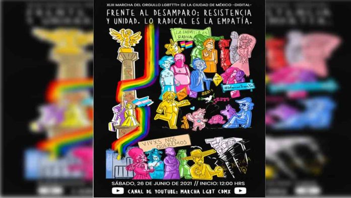 Marcha LGBTI 2021 en CDMX