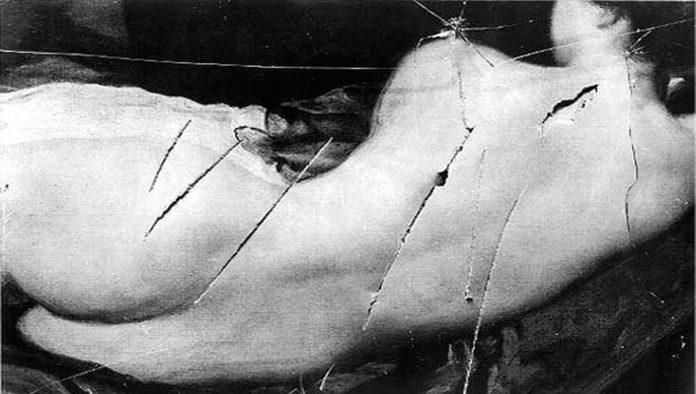 Obra atacada por Mary Richardson
