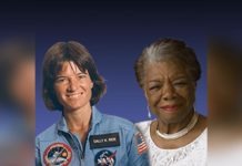 Sally Ride y Maya Angelou