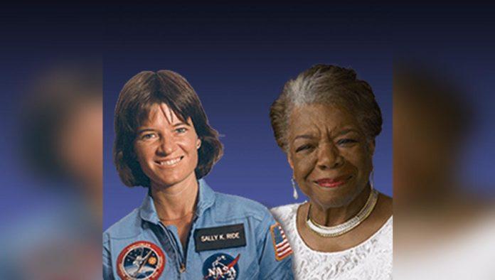 Sally Ride y Maya Angelou