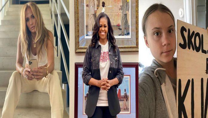 JLo, Michelle Obama y Greta Thunberg