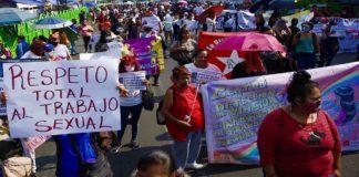 Marcha de trabajadoras sexuales