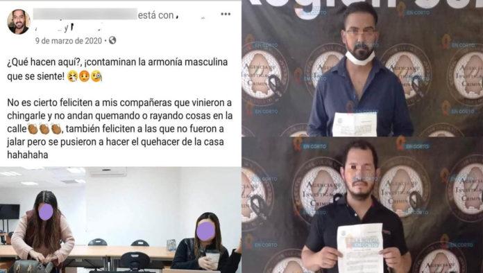 Publicación de detenido por violación burlándose de feministas