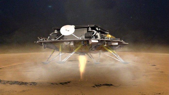 Zhurong, rover de China en Marte