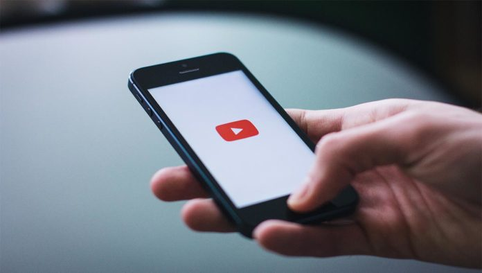 Pantalla de YouTube