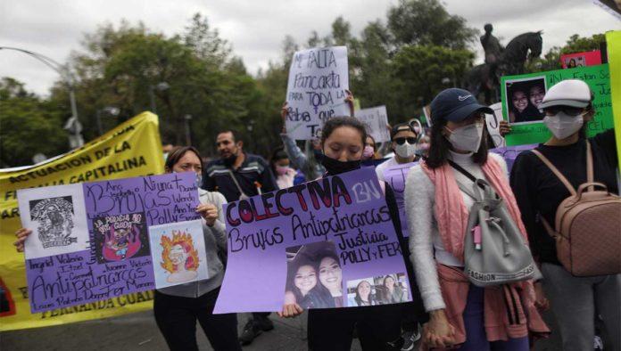 Marcha para exigir justicia para Polly y Fernanda