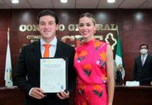 Proponen multar a Samuel García por promoción en redes de Mariana Rodríguez