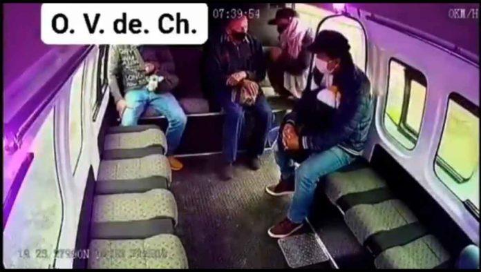 Video viral de asaltante de combi