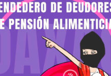 Colocan tendedero de deudores alimenticios en Oaxaca