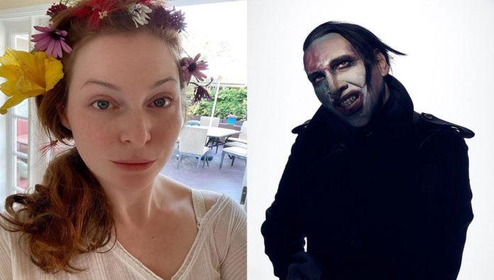 Esmé Bianco y Marilyn Manson