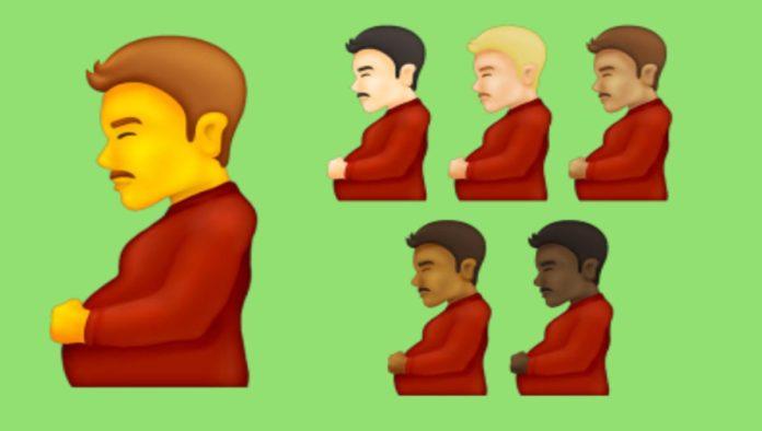 Emoji hombre embarazado