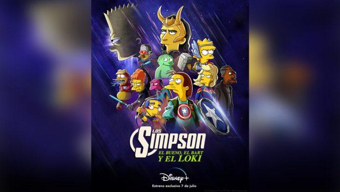 Poster de Los Simpsons y Loki