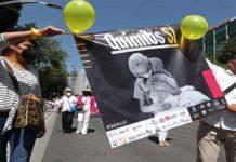 Marcha para acabar con el desabasto de medicamentos de niños con cáncer