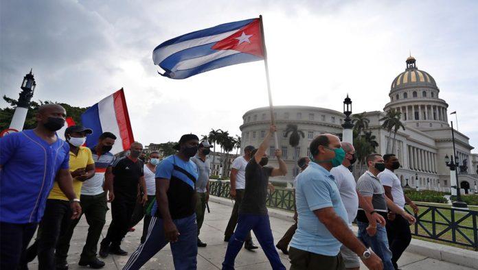 Protesta contra régimen cubano