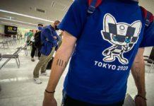 Atleta llegando a Tokio 2020