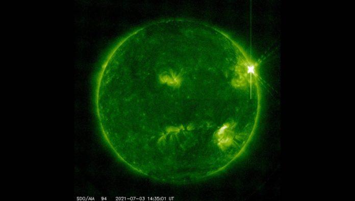 Tormenta solar captada por la NASA