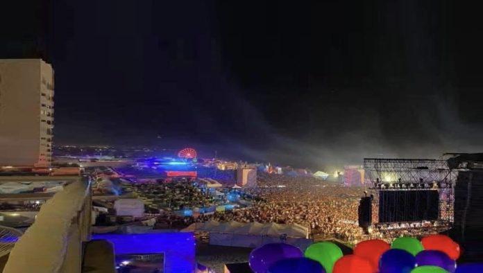 Sin sana distancia realizan concierto en Rosarito, Baja California