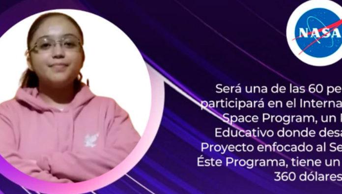 Estrella Salazar, niña seleccionada por la NASA, busca apoyo para cumplir su sueño