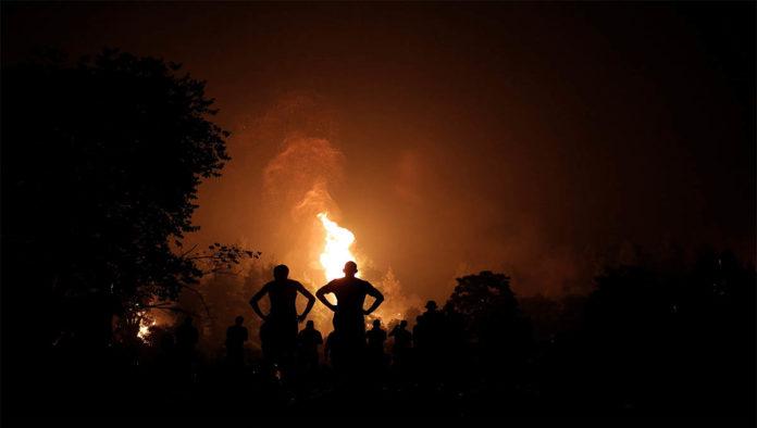 Incendio en Grecia por el cambio climático