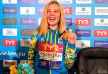 La clavadista Sofiia Lyskun se vuelve viral por su peculiar traje de bañ