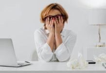 Mujer en estrés