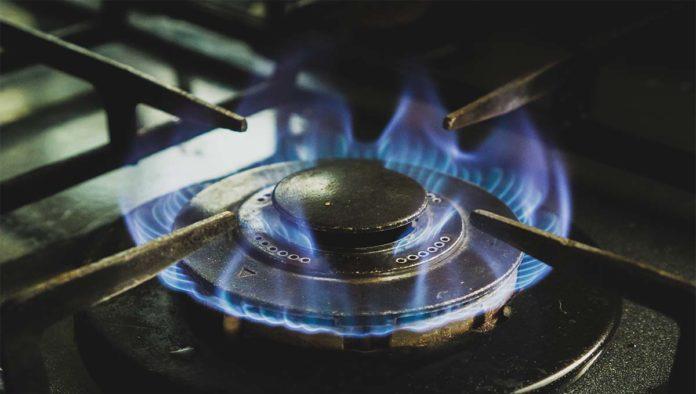 Estufa con gas