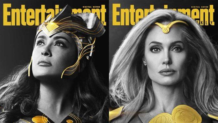 Salma Hayek y Angelina Jolie en The Eternals