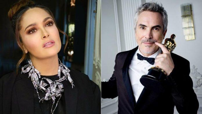 Captan a Salma Hayek de vacaciones con Alfonso Cuarón