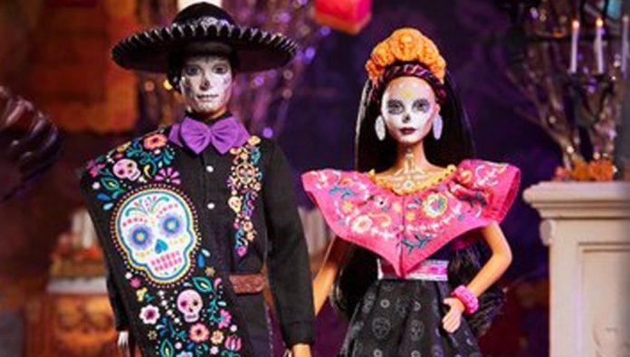 Ken Catrín y Barbie Día de Muertos