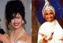 Selena Quintanilla y Celia Cruz