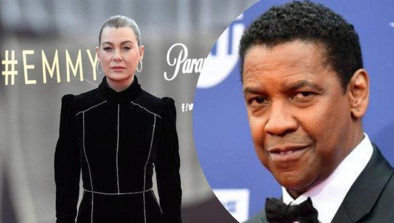 """Ellen Pompeo revela que peleó con Denzel Washington en el set de """"Grey's Anatomy"""""""
