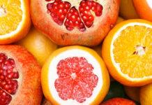 Bebidas refrescantes con frutas de temporada